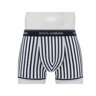 Dolce & Gabbana - 100% Cotton - Regular Boxer - Riga Bluette