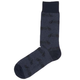 HOM - Herren Socken - Socks Ride - jeans blue