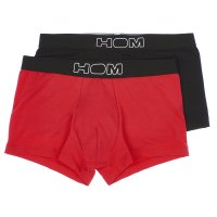 HOM Boxerline - 2er Pack Boxer Brief Colorful - Black / Red