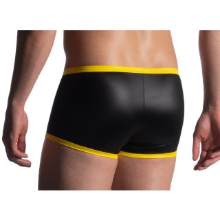 MANSTORE M816 - lackierte Retro Pants - black yellow