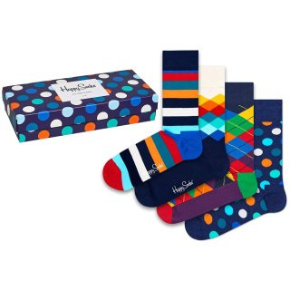 Happy Socks - Big Dot Socks Gift Box - Socken Geschenk-Box - 4er Pack